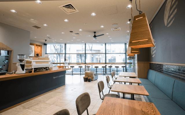 楠の温もりに包まれる広々とした空間tsumikicoffee
